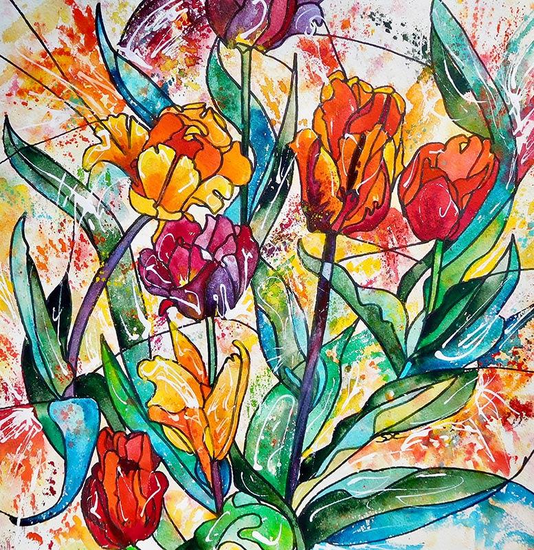 |Watercolour  42 x 42
